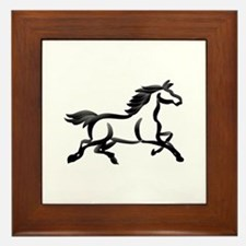 Horse Outline Framed Tile