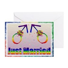 Just Married Gay Men Greeting Card
