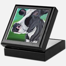 Black and White Cow Keepsake Box