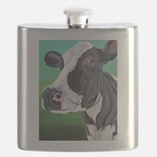 Black and White Cow Flask