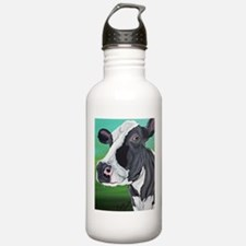 Black and White Cow Water Bottle