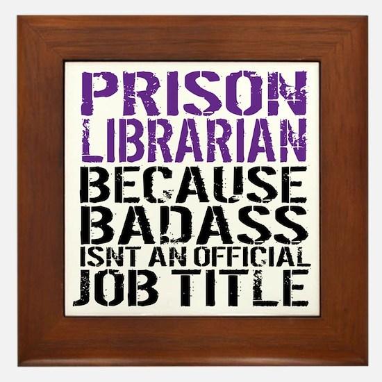 Cool Fun librarian Framed Tile