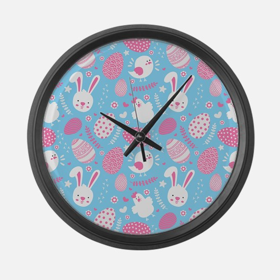 Unique Babies 1st easter Large Wall Clock