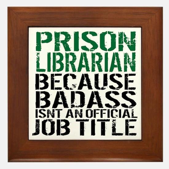 Cute Fun librarian Framed Tile