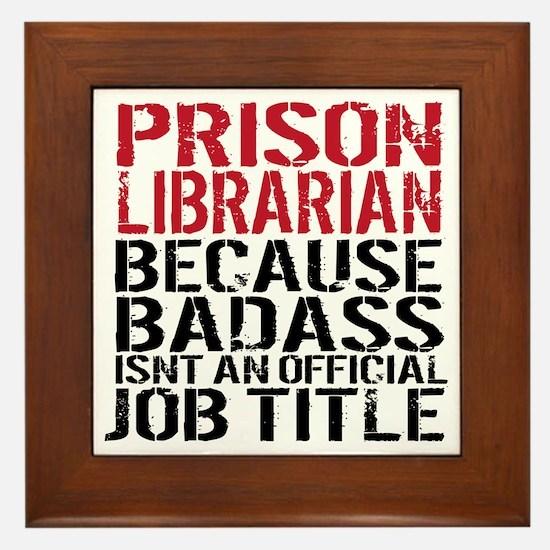 Fun librarian Framed Tile
