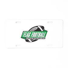 Flag Football Champion Aluminum License Plate