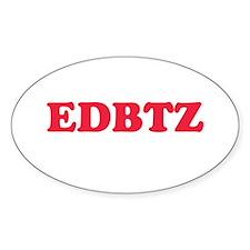 EDBTZ Oval Decal