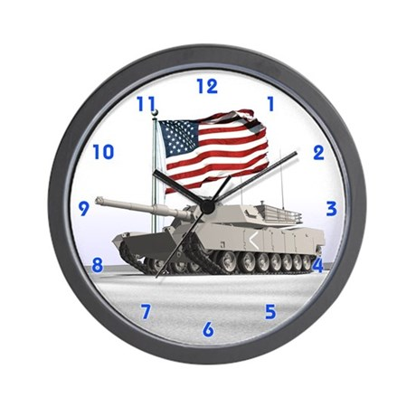 Abrams Tank Wall Clock