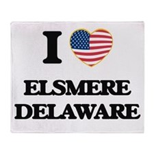 I love Elsmere Delaware Throw Blanket
