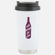 Design For Wine Stainless Steel Travel Mug