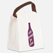 Design For Wine Canvas Lunch Bag
