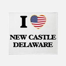 I love New Castle Delaware Throw Blanket
