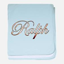 Gold Ralph baby blanket