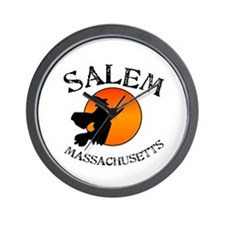 Salem Massachusetts Witch Wall Clock