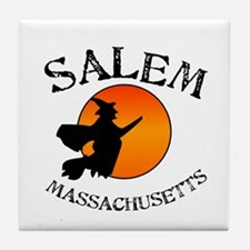 Salem Massachusetts Witch Tile Coaster