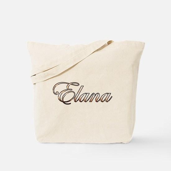 Gold Elana Tote Bag
