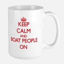 Keep Calm and Boat People ON Mugs