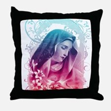 Most Pure Heart of Mary (vertical) Throw Pillow