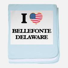 I love Bellefonte Delaware baby blanket