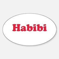 Habibi Oval Decal