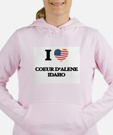I love Coeur D'Alene Ida Women's Hooded Sweatshirt