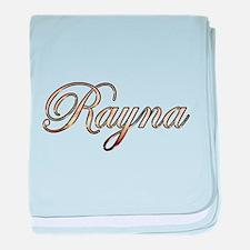 Gold Rayna baby blanket