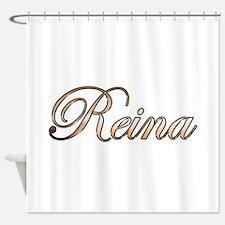 Gold Reina Shower Curtain