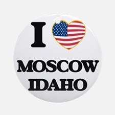 I love Moscow Idaho Ornament (Round)