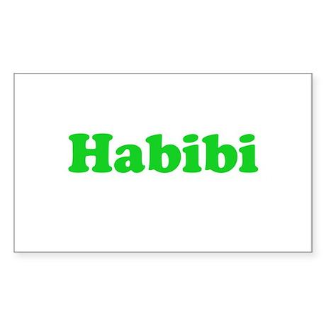 Habibi Rectangle Sticker