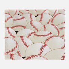 Cute Baseball ball Throw Blanket
