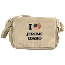 I love Jerome Idaho Messenger Bag