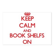 Keep Calm and Book Shelfs Postcards (Package of 8)