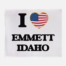I love Emmett Idaho Throw Blanket