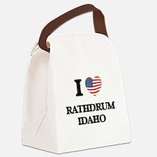 I love Rathdrum Idaho Canvas Lunch Bag