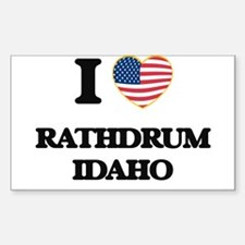 I love Rathdrum Idaho Decal