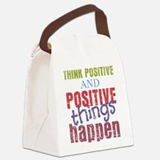 Think Positive and Positive Thing Canvas Lunch Bag