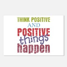 Think Positive and Positi Postcards (Package of 8)