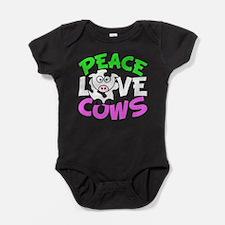 Love Cows Baby Bodysuit