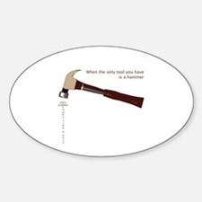 Hammer Problem Oval Decal