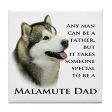 Malamute Dad Tile Coaster