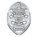 Cooldige Arizona Police Ornament (Oval)
