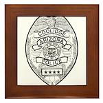 Cooldige Arizona Police Framed Tile