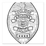 Cooldige Arizona Police Square Car Magnet 3