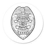 Cooldige Arizona Police Round Car Magnet
