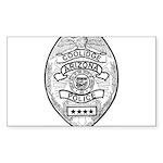 Cooldige Arizona Police Sticker (Rectangle 50 pk)