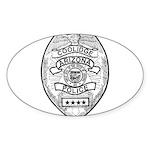 Cooldige Arizona Police Sticker (Oval 10 pk)