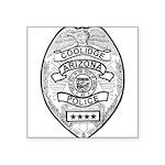 Cooldige Arizona Police Square Sticker 3