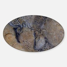 french pyrenees cave paintings Decal
