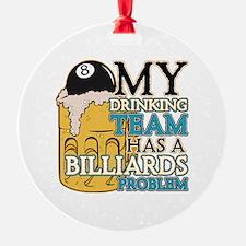 Billiards Drinking Team Ornament