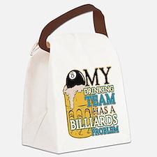 Billiards Drinking Team Canvas Lunch Bag